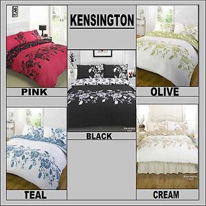 Kensington Black Cream Olive Pink Teal Bedding All Sizes