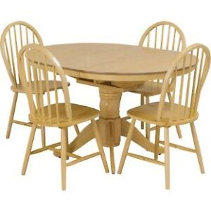 Kentucky Extendable Table 4 Chairs Kitchen Dining Set Wickford
