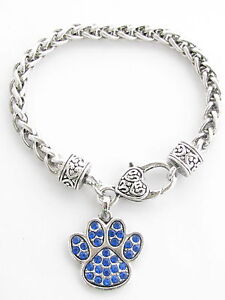 Blue Wildcat Paw Print http://www.ebay.com/itm/Kentucky-Wildcats-Blue-Paw-Print-Crystal-Fashion-Bracelet-Jewelry-UK-/300678494694