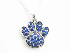 Blue Wildcat Paw Print http://www.ebay.com/itm/Kentucky-Wildcats-Blue-Paw-Print-Crystal-Fashion-Necklace-Jewelry-UK-/300708453909