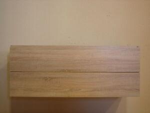 keramag icon 120cm 2s touch waschbecken unterschrank eiche sawcut hell ebay. Black Bedroom Furniture Sets. Home Design Ideas