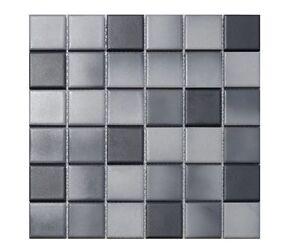 keramikmosaik schwarz dunkelgrau mix granit fliesen bad sanit r mosaik dusche ebay. Black Bedroom Furniture Sets. Home Design Ideas