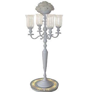 Kerzenstaender-Kerzenleuchter-Silber-weiss-Event-Hochzeit-o-Home-und-Zubehoer