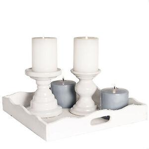 kerzenst nder shabby chic leuchter kerzenhalter wei. Black Bedroom Furniture Sets. Home Design Ideas