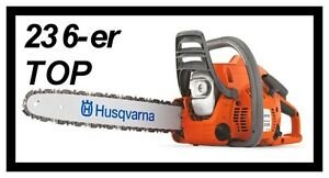 Kettensaege-HUSQVARNA-236-Motorsaege-Benzinkettensaege-MARKENWARE-NEU-Schwert-Kette