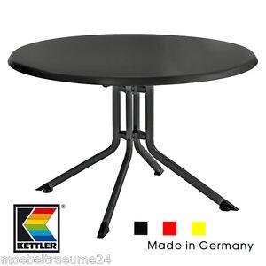 Kettler Gartentisch 100 cm rund in anthrazit für Basic ...
