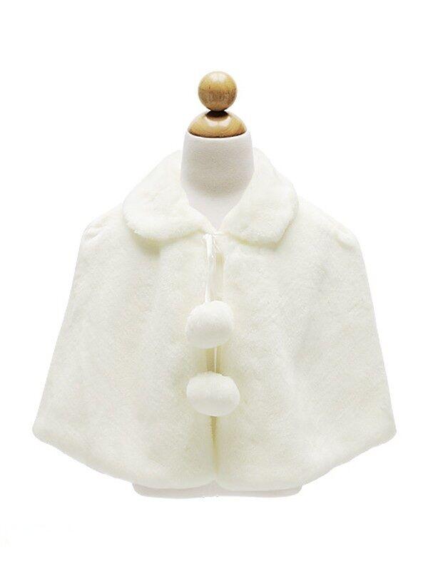 Kids /Baby GIRLS Soft Plush Faux Fur CAPE /COAT Outerwear Pageant