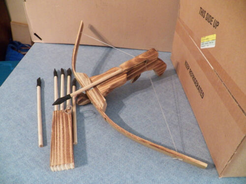 Kids Wooden Cross Bow with a Quiver and 6 Arrows New in Toys & Hobbies, Outdoor Toys & Structures, Other | eBay