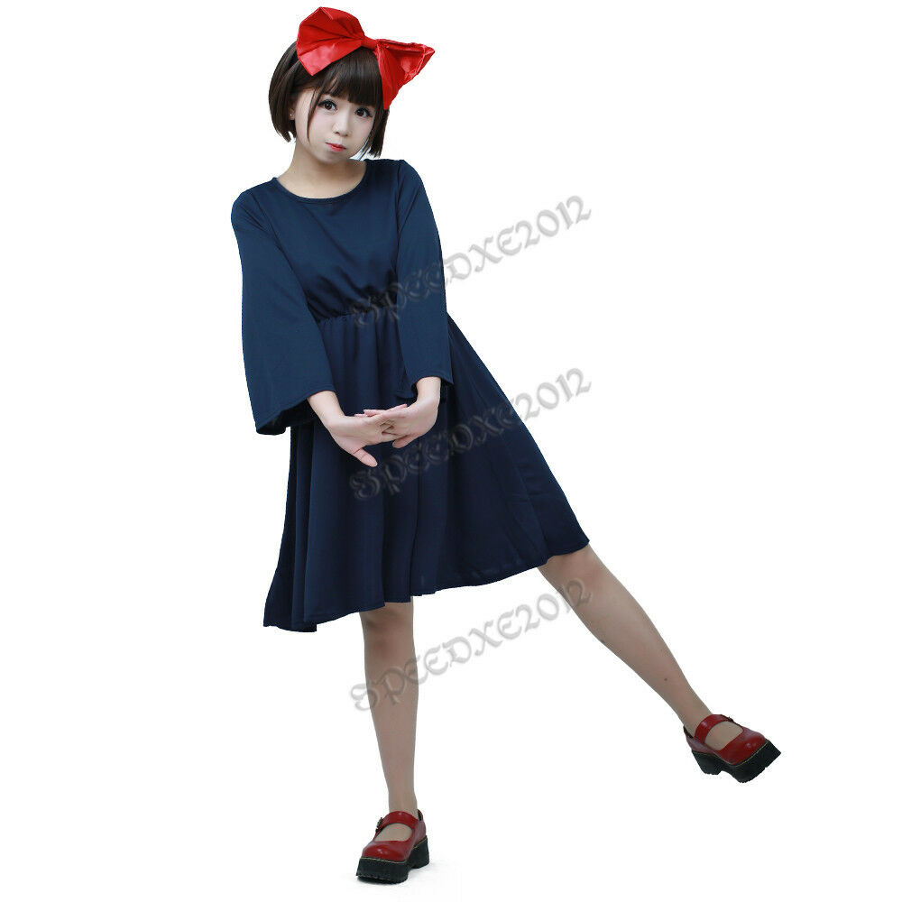Women's Kiki's Delivery Service Halloween Cosplay Costume Witch ...