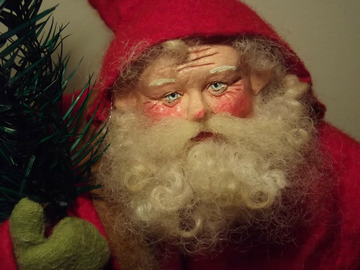 Kims Klaus OOAK Handmade Santa Claus Art Doll Vintage Antique German