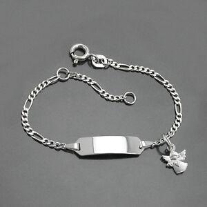 Details zu Kinder Armband Herz Schutz Engel Silber 925 mit Gravur von ...