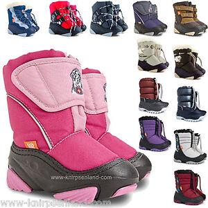 Kinder-Lammfell-Winterschuhe-Stiefel-Kinderstiefel-Boots-gefuettert-Winterstiefel