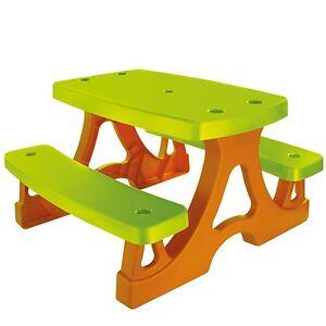 kinder picknicktisch sitzgarnitur kindersitzgruppe tisch und bank f r spielhaus ebay. Black Bedroom Furniture Sets. Home Design Ideas
