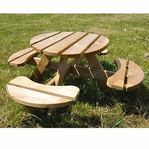 kinder sitzgruppe garten sitzgarnitur picknicktisch aus holz f r kinder 120 cm ebay. Black Bedroom Furniture Sets. Home Design Ideas