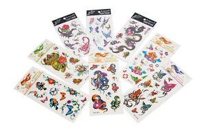 kinder tattoo stickers 8 st ck verschiedene bl tter anlecken aufkleben 5379 ebay. Black Bedroom Furniture Sets. Home Design Ideas