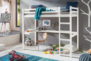 kinderbett hochbett dennis mit leiter und schreibtisch. Black Bedroom Furniture Sets. Home Design Ideas