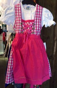 kinderdirndl dirndl inkl bluse pink rosa gr 164. Black Bedroom Furniture Sets. Home Design Ideas