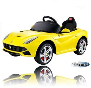 kinderfahrzeug kinder elektro auto e motor ferrari f12 berlinetta rc steuerung ebay. Black Bedroom Furniture Sets. Home Design Ideas