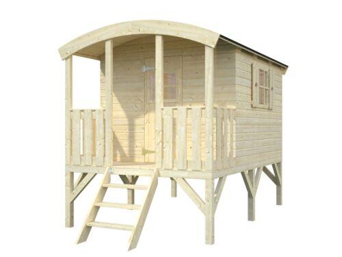 kinderhaus tobi runddach bauwagen zirkuswagen gartenhaus stelzenhaus holz haus ebay. Black Bedroom Furniture Sets. Home Design Ideas