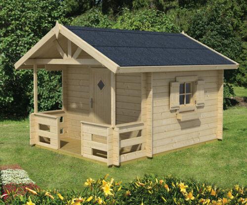 kinderhaus lido gartenhaus blockhaus holzhaus spielhaus ca 235x235 cm 28 mm ebay. Black Bedroom Furniture Sets. Home Design Ideas
