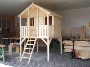 kinderhaus toby tobi tom kinderspielhaus gartenhaus kinderh user stelzenhaus ebay. Black Bedroom Furniture Sets. Home Design Ideas