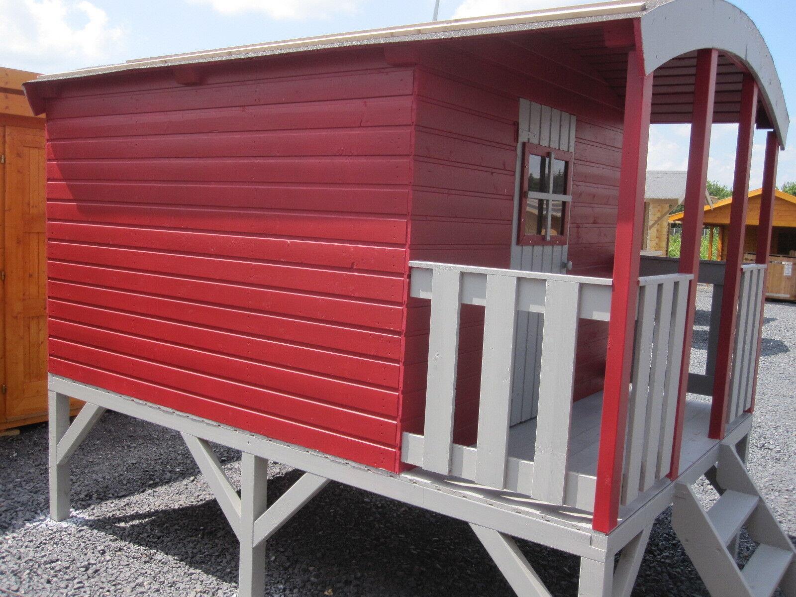 kinderhaus bauwagen zirkuswagen kinderspielhaus gartenhaus stelzenhaus holz haus ebay. Black Bedroom Furniture Sets. Home Design Ideas