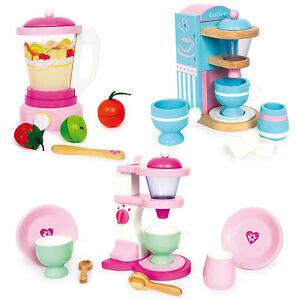 kinderk che spielk che zubeh r holz kaffeemaschine mixer kinder spielzeug ebay. Black Bedroom Furniture Sets. Home Design Ideas