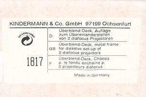 Kindermann-Uberblenddeck-fuer-Diafocus-Projektoren-in-OVP
