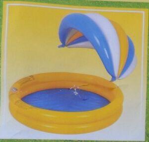 Kinderpool-Aufblasbar-aus-PVC-mit-Sonnenschutz-abnehmbar-neu-OVP