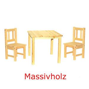 kindersitzgruppe unbehandelt kindertisch 2x kinderstuhl massivholz holz fsc ebay. Black Bedroom Furniture Sets. Home Design Ideas