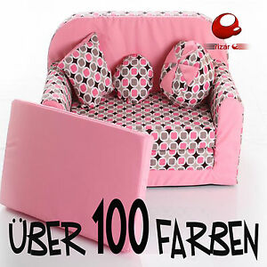 kindersofa ausklappbar schlafsofa couch sofa sessel f r kinder kinderzimmer ebay. Black Bedroom Furniture Sets. Home Design Ideas