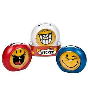 kinderwecker smileyworld wecker smiley s klein frech mit alarm licht sound ebay. Black Bedroom Furniture Sets. Home Design Ideas