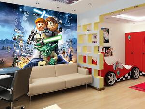 kinderzimmer fototapete poster lego star wars bord re wandtatoo aufkleber deco ebay. Black Bedroom Furniture Sets. Home Design Ideas