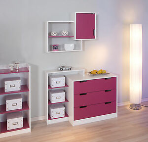 kinderzimmerregal regal kinderregal kinderzimmer wandregal t r lila wei neu ebay. Black Bedroom Furniture Sets. Home Design Ideas