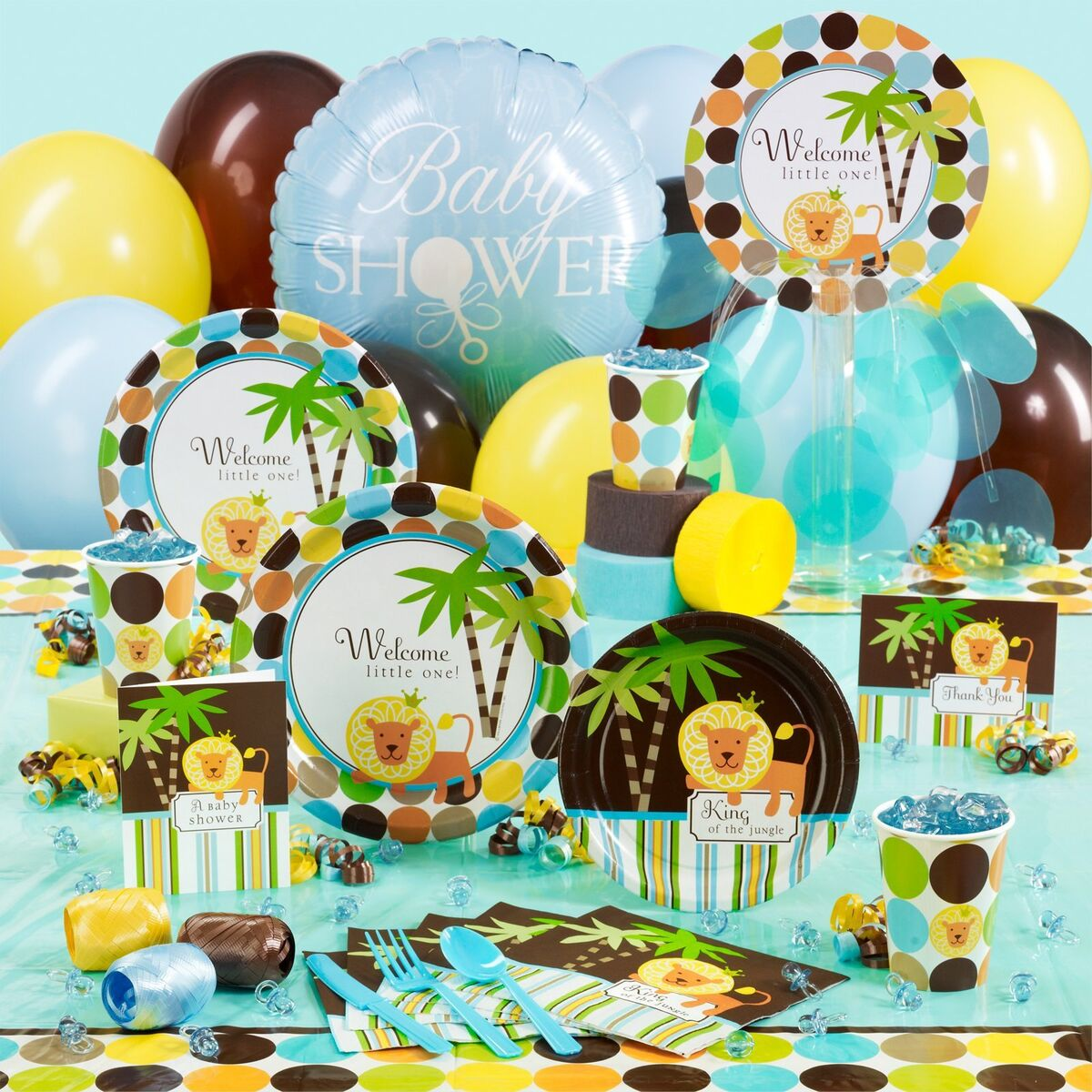 of the jungle baby shower party supplies party city long hairstyles