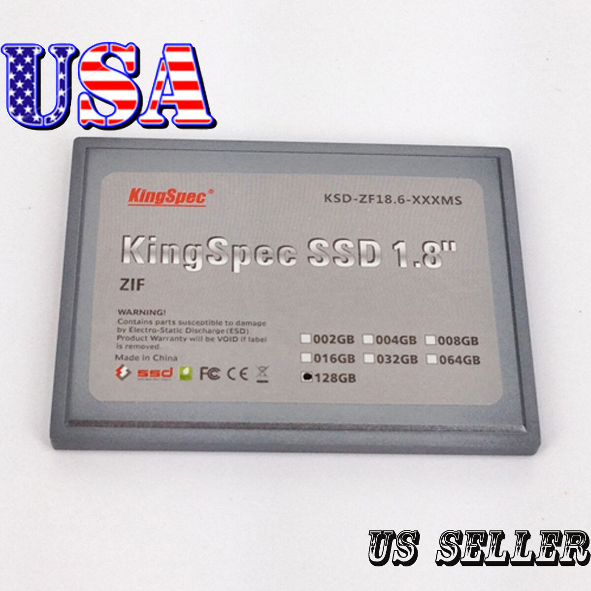 """KingSpec 128GB 1.8"""" ZIF SSD for HTC shift x9500"""
