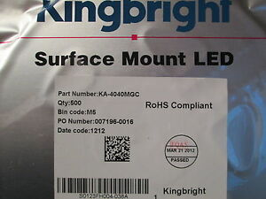 Kingbright-LED-SIDELED-20mA-3-3V-gruen-green-SMD-SMT-KA4040MGC-100-St-11-98