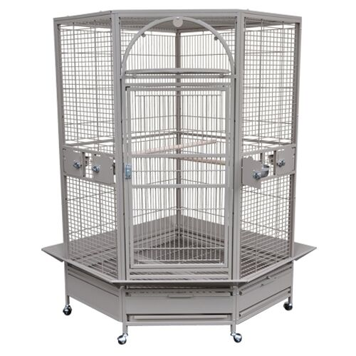"Kings Cages Parrot Bird gc14022w Corner Cage 40"" x 22"" x 68"" toy toys cage in Pet Supplies, Bird Supplies, Toys 