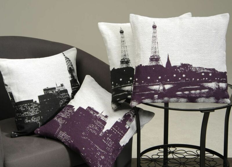 kissenh lle city new york paris kissenbezug deko kissen sofakissen 40 x 40 cm ebay. Black Bedroom Furniture Sets. Home Design Ideas