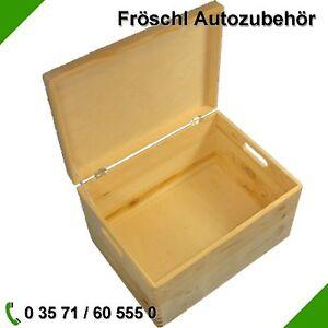 kiste mit deckel aufbewahrung holzkiste box spielkiste spielzeugkiste angelkiste ebay. Black Bedroom Furniture Sets. Home Design Ideas