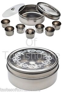 Kitchen craft stainless steel indian spice tin box masala for Kitchen set video in hindi