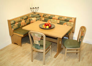 kitchen dining corner seating bench table 2 chairs giga ebay