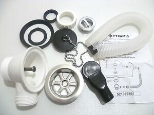kitchen sink waste kit for metal sinks plug chain 52mm waste hole 1. Interior Design Ideas. Home Design Ideas