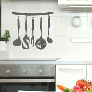 Kitchen utensils Wall sticker decal stencil art giant