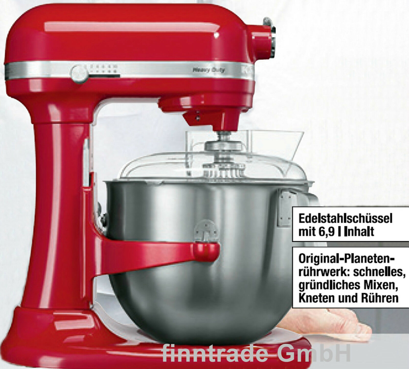 kitchenaid heavy duty k chenmaschine 6 9 l empire rot 5ksm7591x kitchen aid ebay. Black Bedroom Furniture Sets. Home Design Ideas