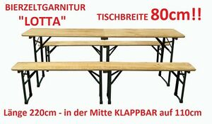 klappbare bierzeltgarnitur lotta bierbank biertisch l nge 220cm breite 80cm ebay. Black Bedroom Furniture Sets. Home Design Ideas