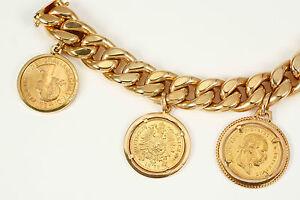 Klassiker: Armband 750 Gold mit echten Goldmünzen, Gewicht 75 Gramm, Länge 19 cm - <span itemprop=availableAtOrFrom>Bad Kissingen, Deutschland</span> - Widerrufsbelehrung Widerrufsrecht Sie haben das Recht, binnen eines Monats ohne Angabe von Gründen diesen Vertrag zu widerrufen. Die Widerrufsfrist beträgt einen Monat ab dem Tag, -  - Bad Kissingen, Deutschland
