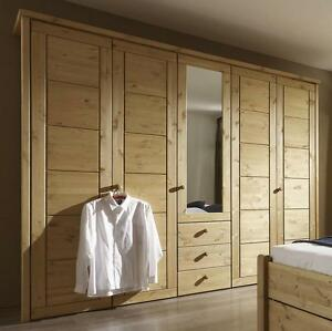 schlafzimmer drehtueren schrank kiefer massiv holz gelaugt geoelt. Black Bedroom Furniture Sets. Home Design Ideas