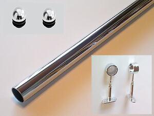 kleiderstange mit 2 deckenbefestigungen rohr 25mm chrom. Black Bedroom Furniture Sets. Home Design Ideas