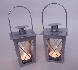 kleine laterne windlicht neu silber ebay. Black Bedroom Furniture Sets. Home Design Ideas